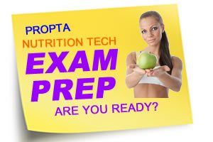 Nutrition Tech Test Preparation Flash Cards