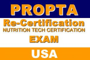 Nutrition Tech Re-Certification Exam (USA)