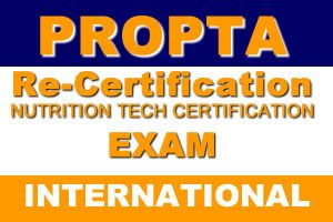 Nutrition Tech Re-Certification Exam (International)