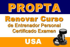 Renovar Curso De Entrenador Personal Certificado Examen (USA)