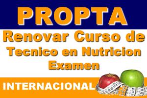 Renovar Curso De Tecnico En Nutricion Examen (Internacional)