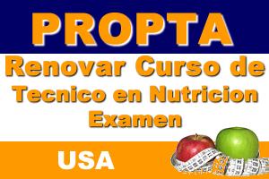 Renovar Curso De Tecnico En Nutricion Examen (USA)