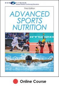 Advanced Sports Nutrition Ebook With CE Exam-3rd Edition