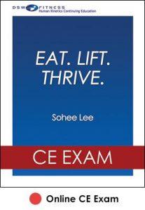 Eat. Lift. Thrive. Online CE Exam